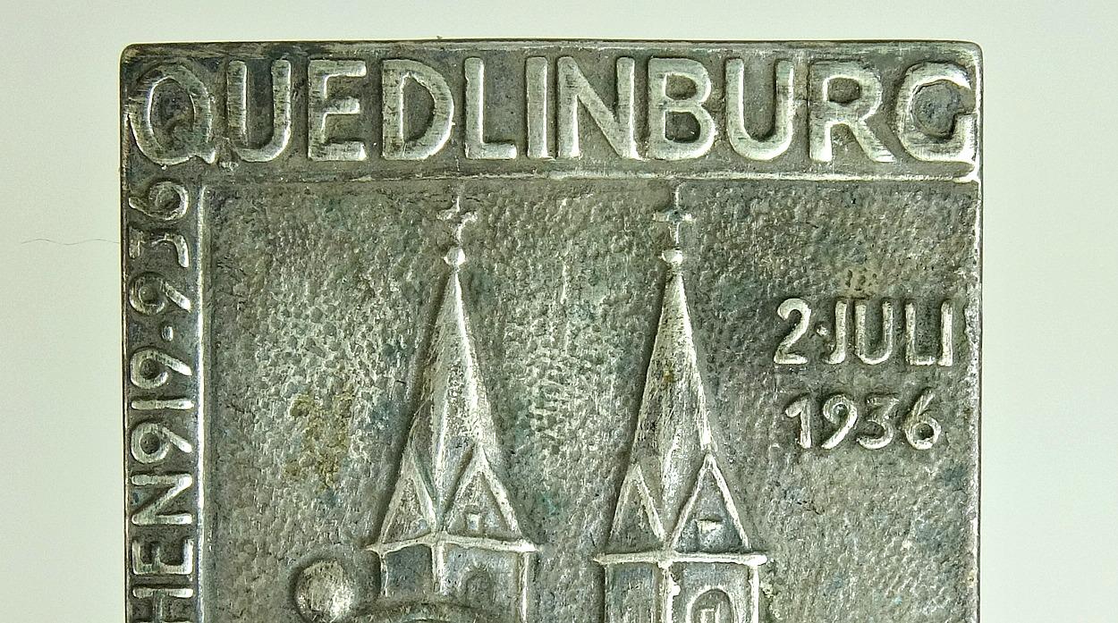 Wittmann militaria 38935c ss quedlinburg table medal