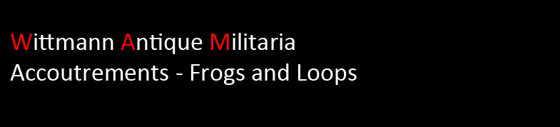 Wittmann Militaria Accoutrements: Frogs & Loops