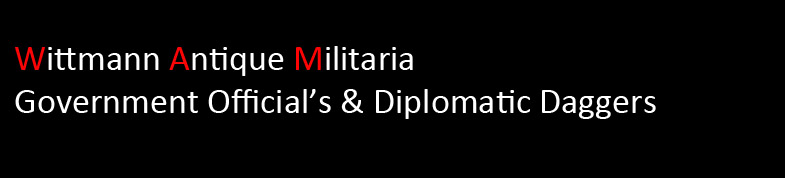 Wittmann Militaria Government Official/Diplomatic Dagger Section