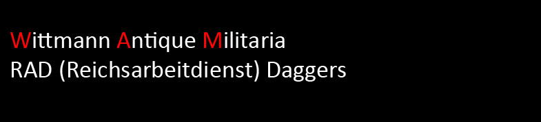 Wittmann Militaria RAD Dagger Section