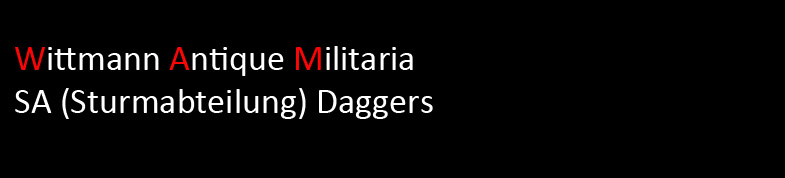 Wittmann Militaria SA Dagger Section
