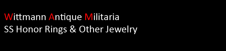 Wittmann Militaria SS Honor Rings & Other Jewelry
